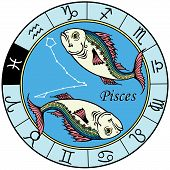 stock photo of pisces  - pisces astrological zodiac sign - JPG
