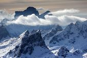 Winter landscape in the Dolomites, Italy