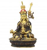 picture of siddhartha  - Closeup of gold color Antique buddha statue - JPG