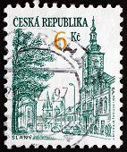 Postage Stamp Czechoslovakia 1994 View Of Slany