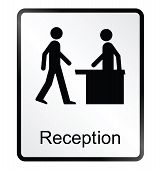 Reception Information Sign