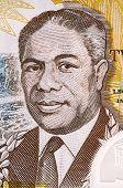SAMOA - CIRCA 2003: Malietoa Tanumafili II (1913-2007) on 2 Lua Tala 2003 Banknote from Samoa. Samoan head of state during 1962-2007.