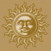 Old-fashioned sun decoration