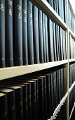 picture of law-books  - old books in a library bookshelf showing education concept - JPG