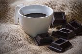 cup of coffee and chocolate