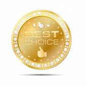 Gold Frame With Diamonds - Best Choice Badge