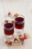 Hazelnut Liqueur And Hazelnuts