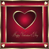 Valentine-Burgandy & Gold Hearts