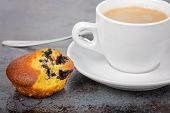 Homemade cake and a mug of coffee