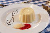 Vanilla Mousse Dessert With Sauce
