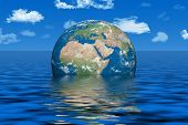 Earth under water - earth texture by NASA.gov