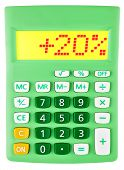 Calculator With 20 On Display On White