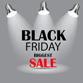 stock photo of friday  - Black Friday Sale Icon Vector Illustration - JPG