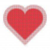 Valentine Heart Halftone
