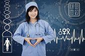 Hispanic Surgeon Makes Heart Symbol