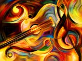 stock photo of expressionism  - Abstract painting on the subject of music and rhythm - JPG