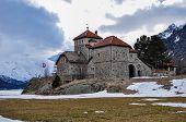image of engadine  - The castle of Silvaplana in Engadin valley - JPG