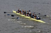 Drexel University races in the Head of Charles Regatta Men's Championship Eights