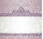 Shiny Pink & silver renaissance pattern  vintage invitaton background