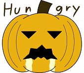pumpkin face cartoon emotion expression hungry