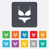 Women bra and panties icon. Intimates underwear.