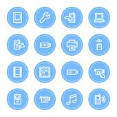 Mobile content web icons set