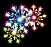fireworks colors stars raster