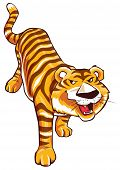 picture of white tiger cub  - Tiger Cartoon Editable  - JPG