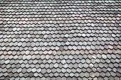 Wood shingle roof background