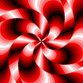 Design Colorful Whirlpool Motion Illusion Background