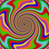 Design Multicolor Swirl Rotation Background
