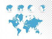 World map, vector