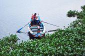 Amarapura, Myanmar - October 9, 2013: Ferryman On The Taungthaman Lake