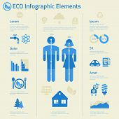 Flat design human issues ecological infographics template