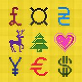 Cross Embroidery Pixel Art Currency Christmas Scheme