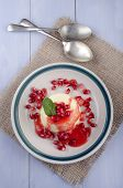 Panna Cotta With Pomegranate Seed