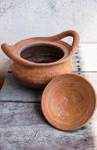 Clay Pot On Wooden