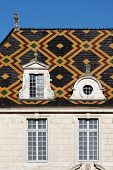 picture of hospice  - Polychrome roof of the Hospices de Beaune, France. Originally a hospital is now a museum. ** Note: Soft Focus at 100%, best at smaller sizes - JPG