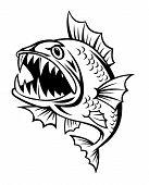 Angry fish
