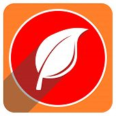 nature red flat icon isolated
