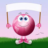 Pink Earth With Breast Cancer Prevention