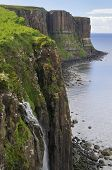picture of kilt  - Kilt Rock Basalt Cliffs Staffin Isle of Skye - JPG