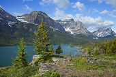 St. Mary's Lake In Glacier National Park Montana