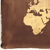 aged Europe map-vintage artwork poster