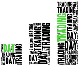 stock photo of nyse  - Day trading on stock market concept - JPG