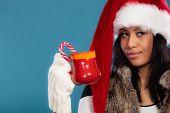 pic of mug shot  - Christmas time concept - JPG