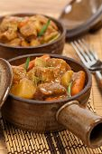 stock photo of stew  - Homemade Slow Cooker Pork Stew - JPG