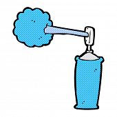 stock photo of spray can  - retro comic book style cartoon spray can - JPG