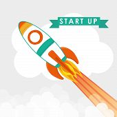 image of start over  - Start up business design weather concept design over white background - JPG