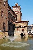 foto of castello brown  - The medieval Castle Estense  - JPG